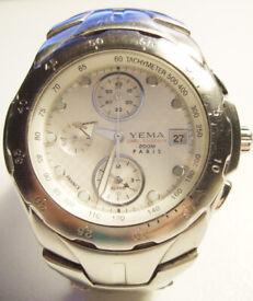 YEMA CHRONOGRAPH Men's Stainless steel Wrist Watch