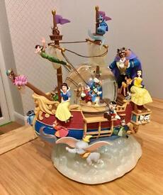 Disney musical Snow Globe ship/ boat collectible