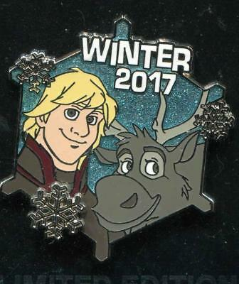 Winter 2017 Kristoff and Sven Snowflake LE Disney Pin 126494
