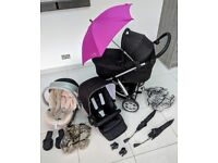 Mamas & Papas 3in1 Sola travel system. Stroller+Pram+Car Seat+Accessories. Smoke free home.