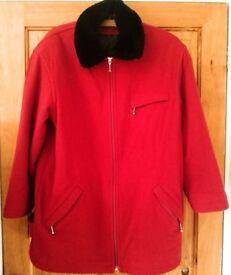 Klass ladies winter coat size 10 in red