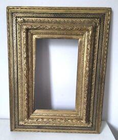 "Small, ornate, vintage/antique, gold/gilt ""Carpentier"" picture frame"