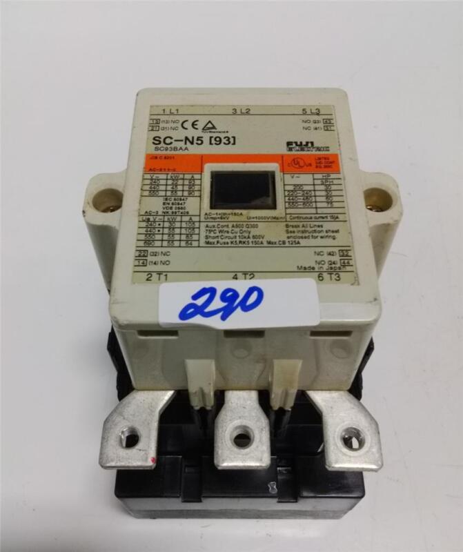FUJI ELECTRIC MAGNETIC CONTACTOR STARTER SC-N5 (93)