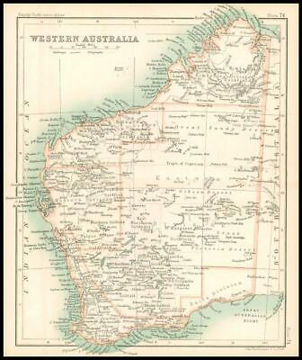 c1912 Map of WESTERN AUSTRALIA Chart Regions (BS78)