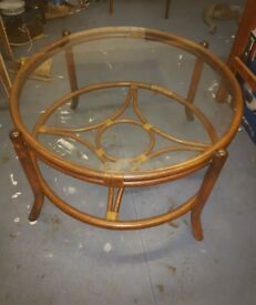 Mid Century Cane Coffee Table