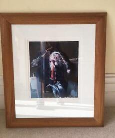 Beautifully framed Lenkiwiecz print 'Painter in the Wind - 3.50am Project 19
