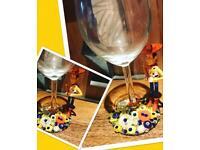 Disneys toy story wine glass
