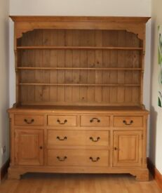 Large Solid Pine French Dresser