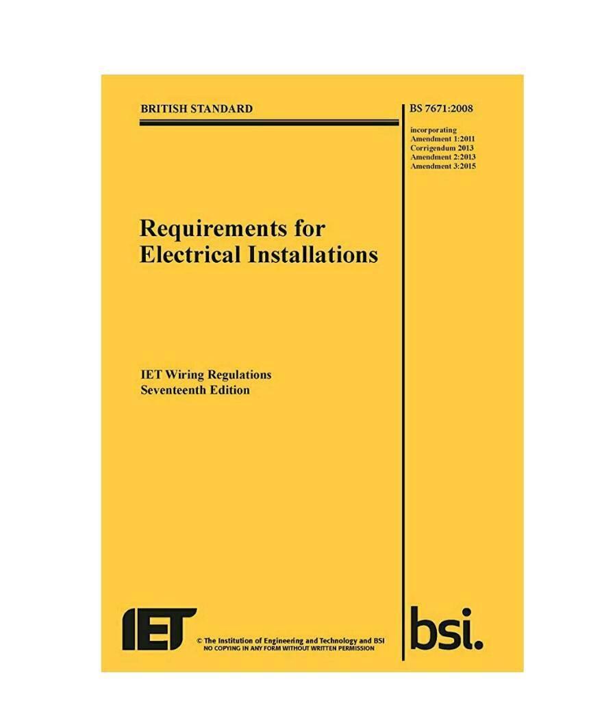 17 Edition Wiring Regulations Book