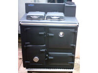 AGA Rayburn Cooking Range solid fuel / wood burning in excellent restored condition