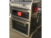 HOTPOINT STAINLESS STEEL GAS COOKER DOUBLE OVEN INCLUDES 6 MONTHS GUARANTEE