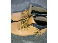 Men golden brown shoes