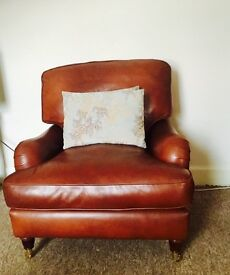 Laura Ashley Brown Leather Montrose Chair
