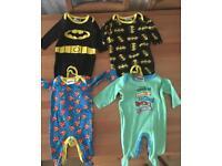 4 character baby sleepsuits