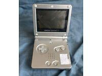 gameboy sp silver console