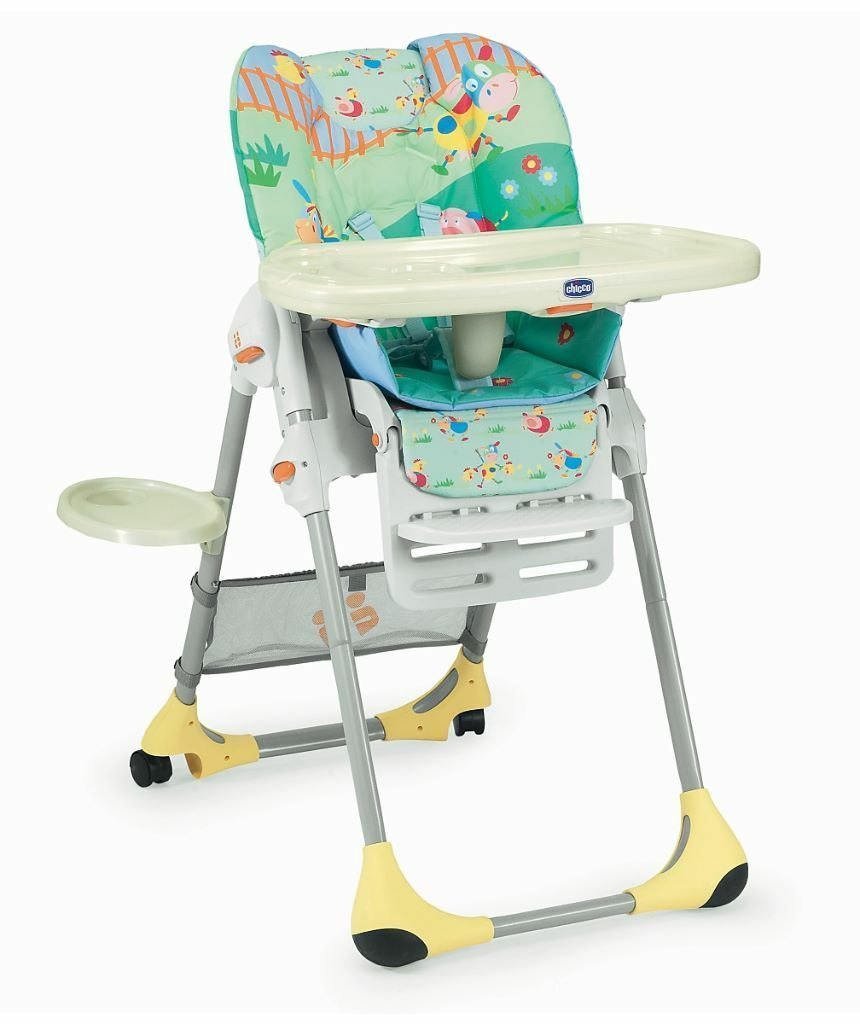 chicco polly 2 in 1 highchair - farm friends | in old whittington