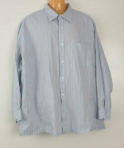 J ferrar men 39 s shirt 3xl blue brown striped button front for J ferrar military shirt