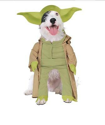 NEW YODA STAR WARS JEDI MASTER DISNEY HALLOWEEN pet DOG CAT COSTUME S (Yoda Pet Costume)