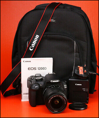 Canon EOS 1200D DSLR Camera +18-55mm IS II Zoom Lens Kit -Only 4,914 Shots Taken
