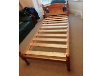 Single pine beds x2