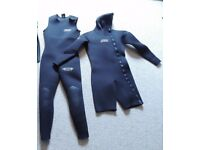 Heavy / winter-weight Gul men's two-piece wetsuit ML