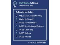 Maths and science tutor (online and face to face)