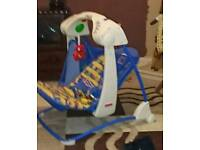 Baby swinging musical chair