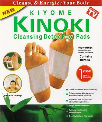 10 Cleansing Detox Foot Pads Patches KINOKI *As Seen On