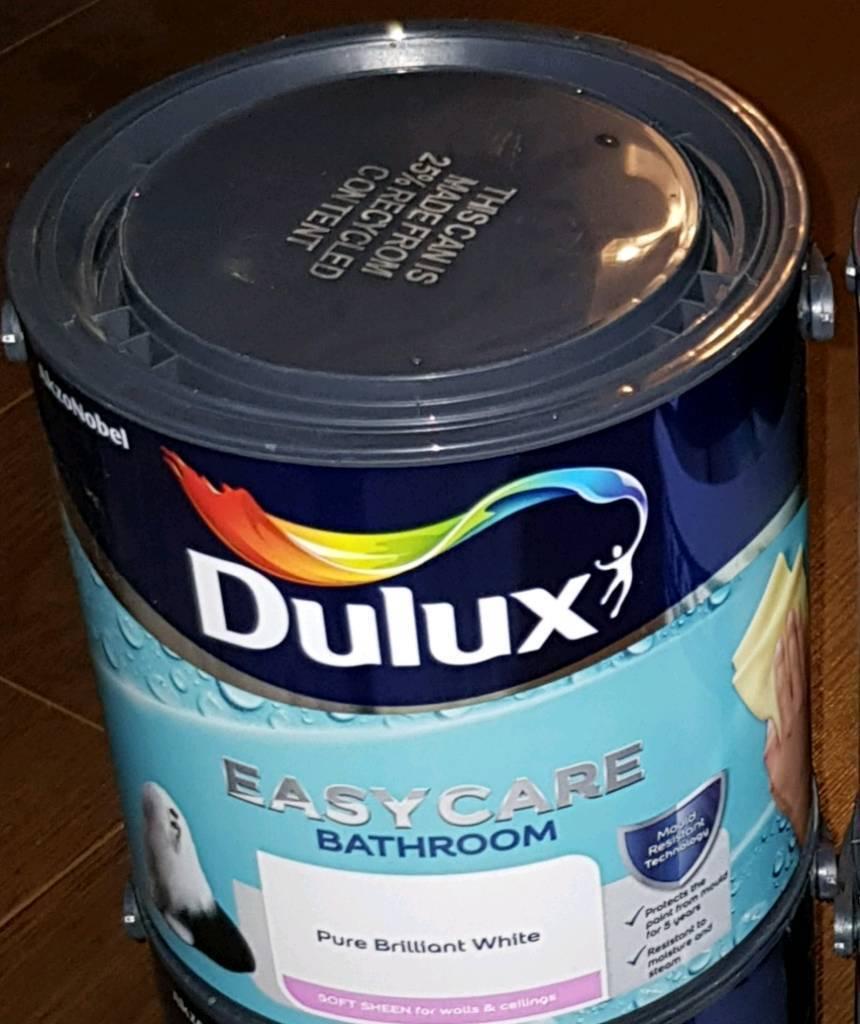 Dulux Easycare Bathroom Soft Sheen Emulsion Paint - Pure ...