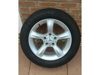 Mercedes alloy wheels and tyres