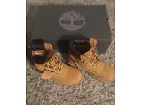 Tan leather Timberland boots size 3