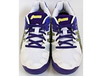 Women's / Girl's Size 4.5 Purple and White Gel Resolution 5 Trainers By Asics