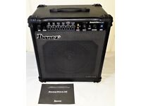 BASS GUITAR AMP IBANEZ SOUND WAVE 35 WATT COMBO WITH 10 INCH SPEAKER IN EXCELLENTCONDITION