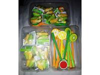15 x fruit pens & 15 x double pack banana rubber eraser school stationary JOBLOT