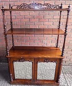 Early Victorian Rosewood Watt Nott/ shelving, display and cabinet