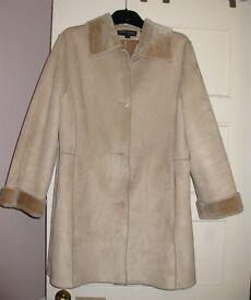 Soft Beige coat resembling suede