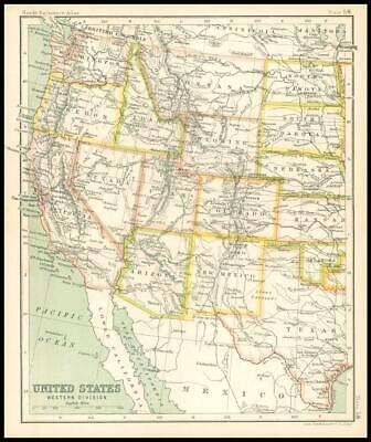 c1912 Map of the UNITED STATES Western Division Chart Regions (BS63)