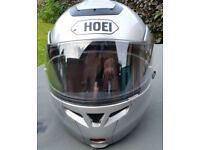 Shoei lid with lift up face and anti mist visor (top condition)