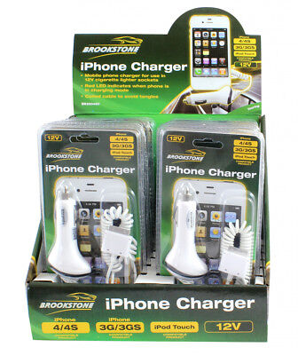 3g Ipod Car Charger (Brookstone Unipart Iphone 3G 3GS 4 4S Ipod Touch Car Charger )