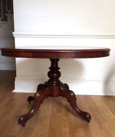 Mahogany Victorian Oval Table