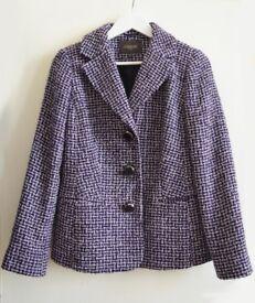 Alexon Tweed Wool Jacket Size 12