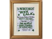 The Beatles poster SIGNED and framed with photo from signing £30 pick up LEEDS