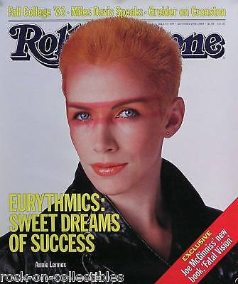 EURYTHMICS 1983 ANNIE LENNOX ROLLING STONE COVER POSTER