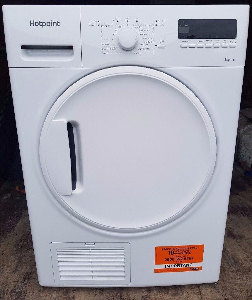 Hotpoint 8kg condenser dryer - 6 months old - FREE DELIVERY