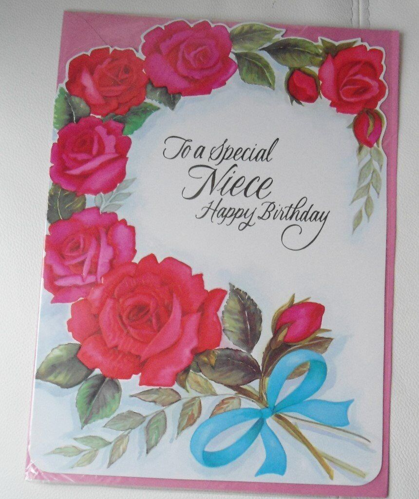 niece birthday cards  large  in billingham county