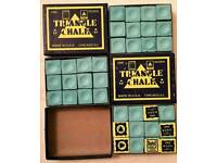 Triangle pool que chalk
