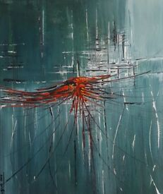 "Modern Art Acrylic on canvas "" Spider "" oryginal from artist 50x60 cm"