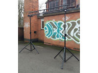 Trilite crossbar lighting truss system with winch / wind up stands 60 KG load