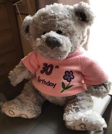 Teddy Bear - 30th Birthday Teddy - used but in Good Condition