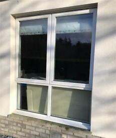 Large double glazed wooden window